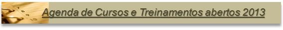 Agenda de Cursos e Treinamentos abertos 2013